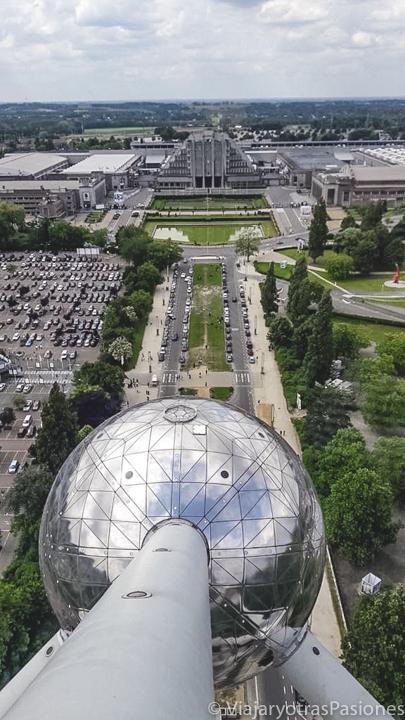 Vista panorámica desde el famoso Atomium de Bruselas, en Bélgica