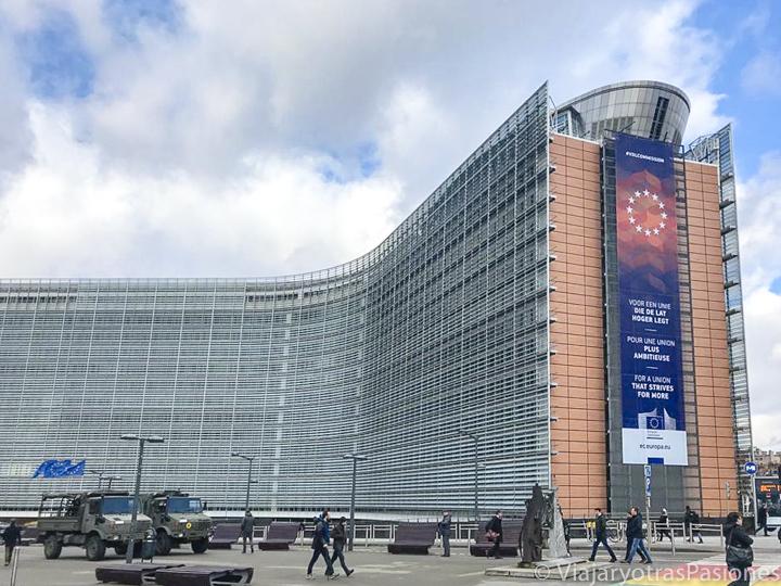 Vista del edificio de la Comisión Europea en Bruselas, en Bélgica