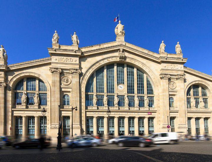 Entrada de la importante Gare du Nord de París, en Francia