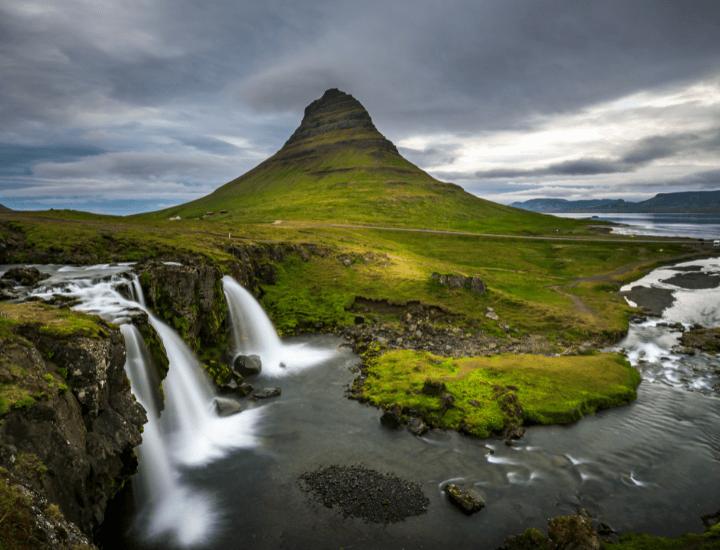 Increíble vista del la península de Snaefellness, en Islandia