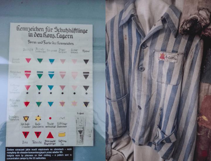 Detalles de algunos importantes artefactos en el museo de Auschwitz, en Polonia